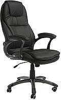 Кресло для руководителя черная кожа CONRAD  Black