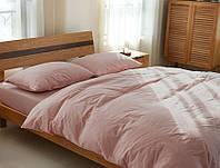Семейное постельное белье, Пудровый №561, лен 100%