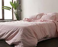 Семейное постельное белье, Розовый №1273, лен 100%
