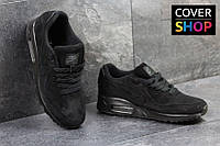 Спортивные кроссовки Nike Air Max 87, черные, материал - замша, подошва - пенка