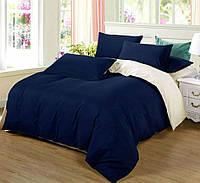 Семейное постельное белье с простыню на резинке 180*200*34 - Сатин однотонный, микс №4052+№001