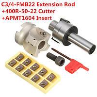C3 4-fmb22 удлинение хвостовика стержня 400р-50-22 ножевой мельницы торец / с 10шт apmt1604 вставками