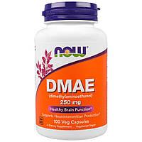 DMAE (диметиламиноэтанол) 250мг, Now Foods, 100 гелевых капсул