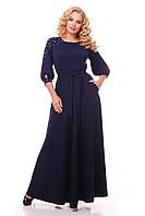 Нарядное вечернее платье в пол Вивьен темно-синее