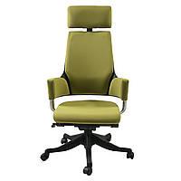 Кресло руководителя кожаное оливковое DELPHI