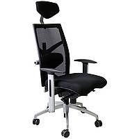 Кресло руководителя сетка EXACT Black  fabric/mesh