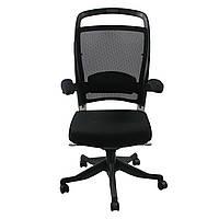 Кресло офисное для руководителя FULKRUM  Black  Mesh & fabric