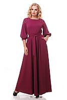 Нарядное вечернее платье в пол Вивьен марсала