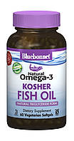 Натуральная Омега-3 из Кошерного Рыбьего Жира, Bluebonnet Nutrition, 60 желатиновых капсул
