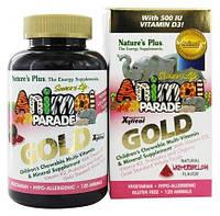 Natures Plus, Animal Parade Gold, Мультивитамины для Детей, Вкус Арбуза, 120 жевательных таблеток