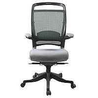 Кресло офисное для руководителя FULKRUM  Grey   Mesh & fabric