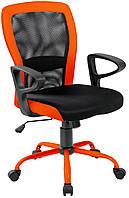 Кресло офисное для руководителя LENO  Grey-Orange