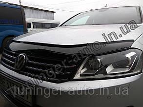 Мухобойка дефлектор капота Volkswagen Passat B7 2010- (Fly)