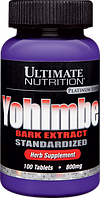Ultimate Nutrition, Экстракт Коры Йохимбе 800мг, 100 таблеток