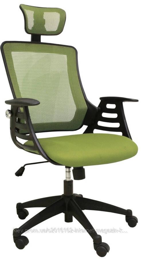 Кресло офисное для руководителя MERANO headrest  Green