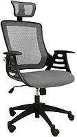 Кресло офисное для руководителя MERANO headrest  Grey
