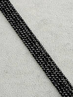 047864 Бусины Оникс 40 см. 2,5 мм.  фурнитура для рукоделия из натуральных камней