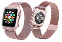 Ремешок браслет миланская петля Milanese loop Apple Watch 42 / 44 mm, Rose Pink, пудровый, розовый