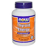 Now Foods, Thyroid Energy, Поддержка Щитовидной Железы, 90 гелевых капсул