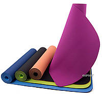 Коврик для йоги и фитнеса (йога мат) OSPORT Premium TPE+TC 183х61см толщина 6мм (FI-0076)