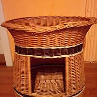 Домик для животных овальный с цельной лозы, фото 1