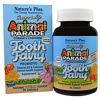 Natures Plus, Animal Parade, Пробиотик для Здоровья Зубов для Детей, Ваниль, 90 жев. таблеток
