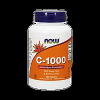 Витамин С-1000 с Шиповником + Биофлавоноиды, Now Foods, 100 таблеток