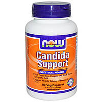 Комплекс для Кишечника, Candida Support, Now Foods, 90 гелевых капсул