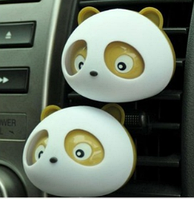 """Автомобильный освежитель воздуха """"Панда"""" 2шт / компл. Ароматизатор в машину, Лимон"""