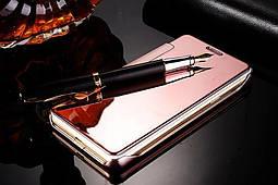 Чехол Mirror для Samsung Galaxy A3 2016 A310 книжка зеркальный Rose