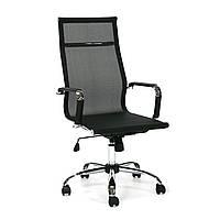 Кресло офисное для руководителя ULTRA-2  Textiline  Black/crome