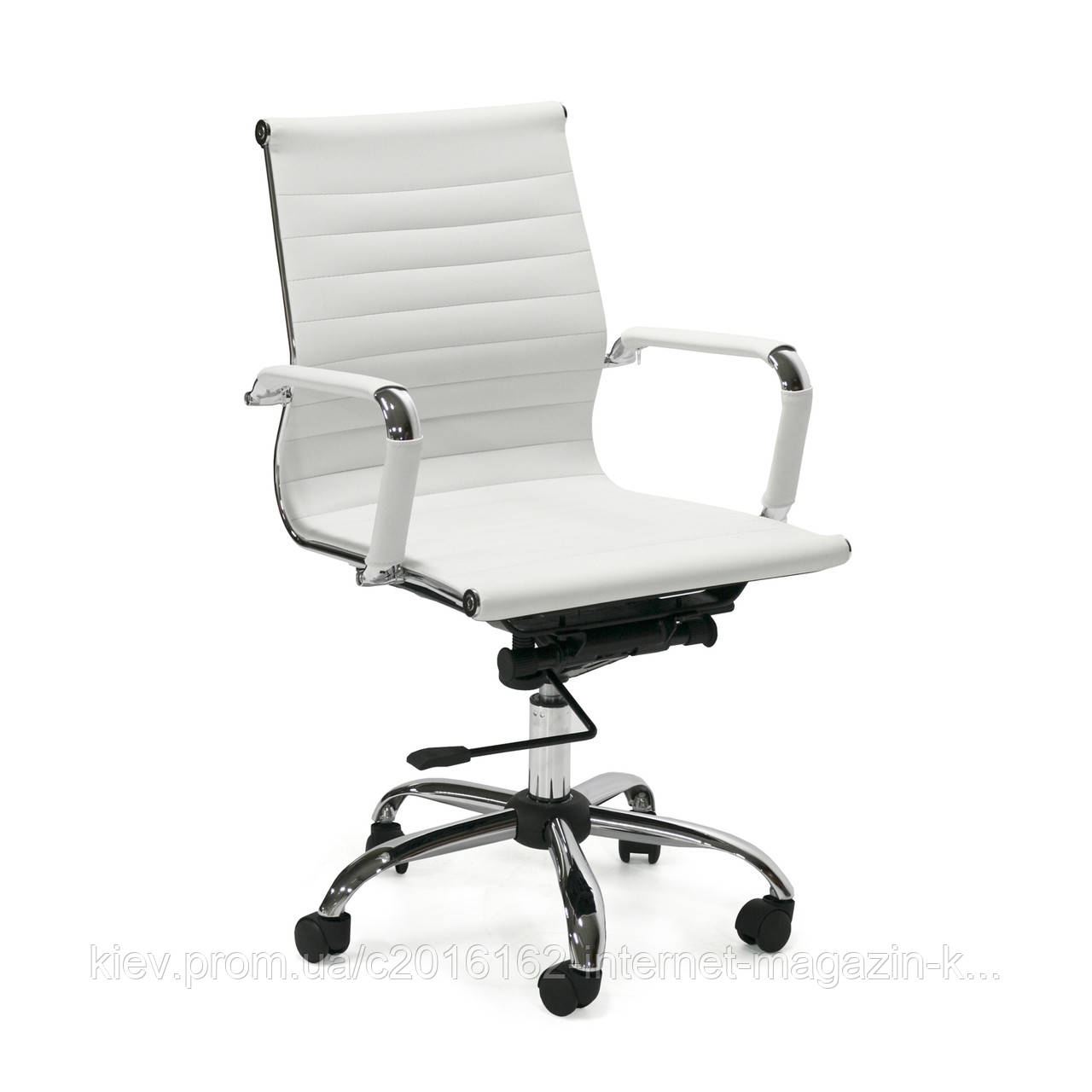 Кресло офисное ULTRA  ArtLeather  White/Chrome