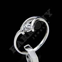 Кольцо с топазом серебряное 925 проба