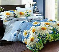 Двуспальное постельное белье с простыню на резинке 160/200/34 - Лето, Сатин 100% хлопок