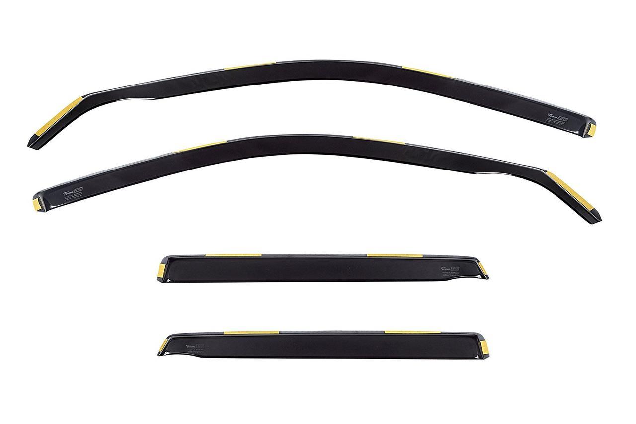 Дефлектори вікон (вітровики) Audi A4 (B5) 1995-2000 4D / вставні, 4шт/ Combi