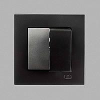 Выкл. 2-клав. Черный Eqona