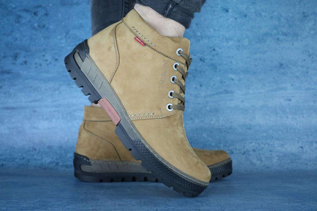 Мужские зимние ботинки Norman (оливковые), ТОП-реплика