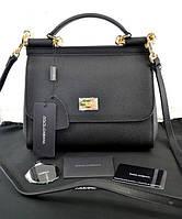 Женская сумка в стиле Dolce & Gabbana Sicily Black (4901), фото 1