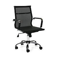 Кресло офисное компьютерное ULTRA  Textiline  Black/chrome