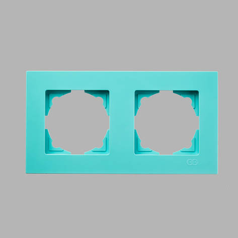 Рамка 2-ая бирюзовая Eqona, фото 2