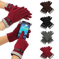 Моды милые женские сенсорный экран зимы теплые вязаные соткан запястье перчатки рукавицы
