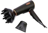 Фен Rotex RFF200-B для густых волос, объем, насадка-концентратор