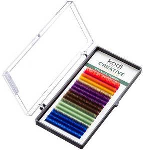 Ресницы для наращивания Kodi Professional Creative, В-0.07 (16 рядов: 10 мм.) цветные