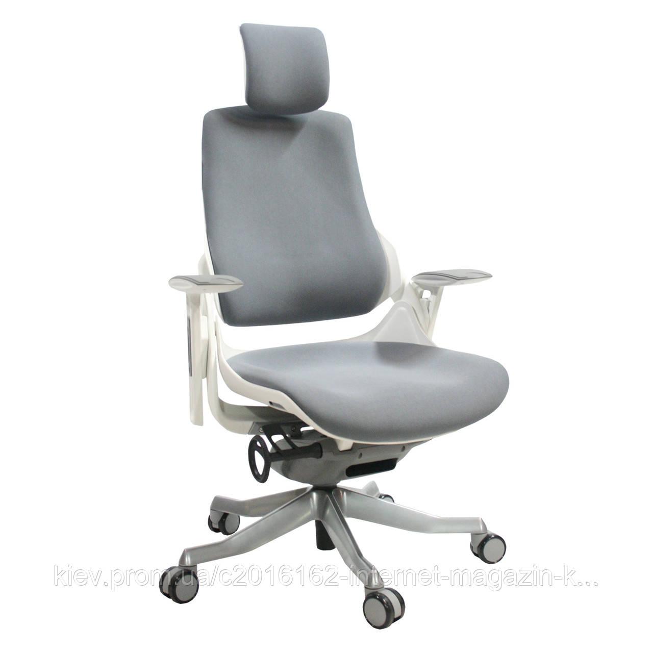 Кресло офисное WAU  Grey slate  fabric  White frame