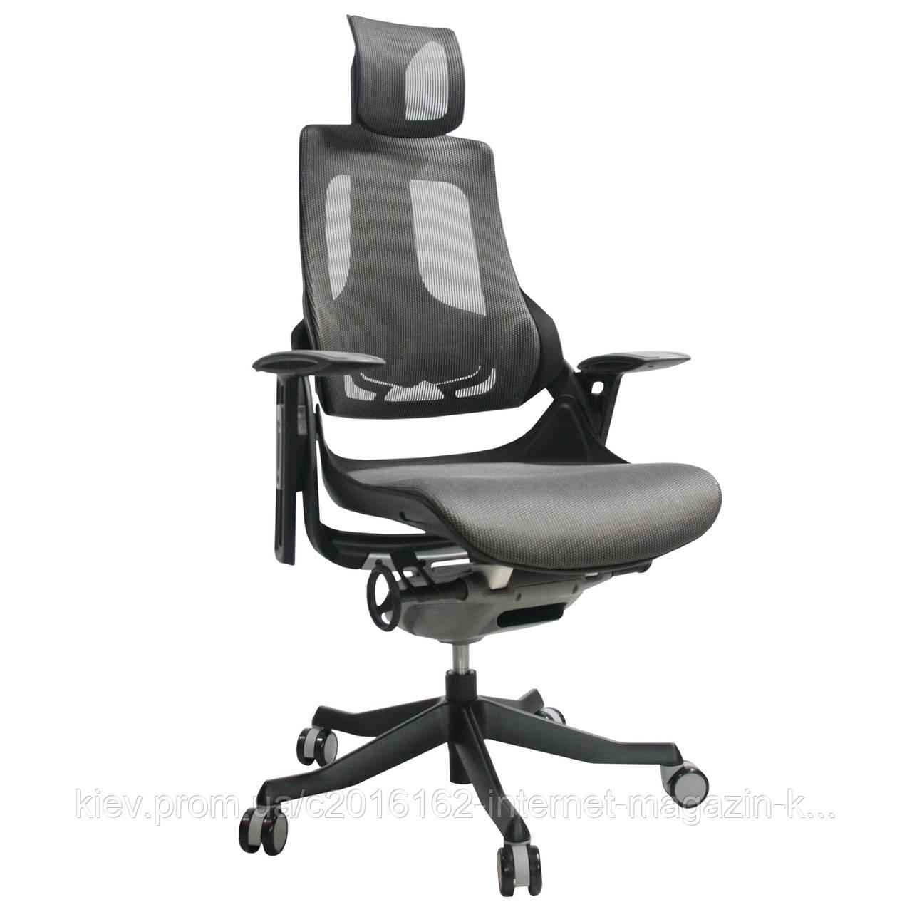 Кресло офисное для руководителя WAU  Grey  mesh fabric
