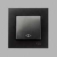 Переключ. промежуточный 1-клав. Черный Eqona