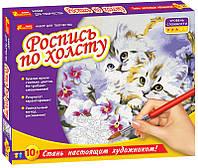 "Роспись по холсту ""Котята"""