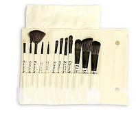 Набор кистей для макияжа LILY, 12 ШТУК (БЕЛЫЙ)