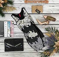 Эффектное платье-майка Vero Moda с декором из трехцветных пайеток DR210090