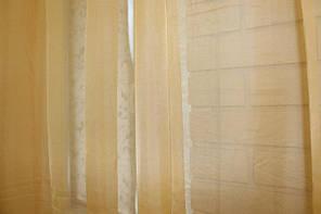Готовая пошитая тюль из шифона янтарная 2.8м.х1,6м.